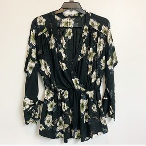 Free People - Tuscan Dreams Floral Tunic Top